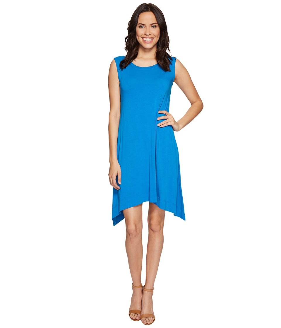 Nally & Millie - Sleeveless A-Line Dress (Cobalt) Women's Dress