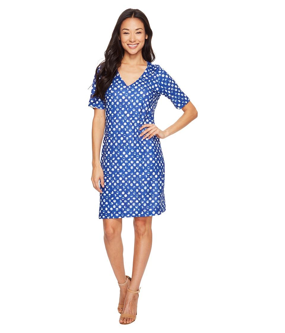 Nally & Millie Printed Reversible V-Neck Dress (Multi) Women