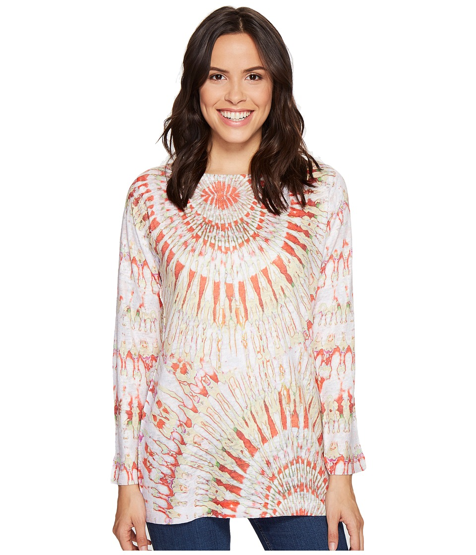 Nally & Millie - Orange Tie-Dye Top (Multi) Women's Clothing