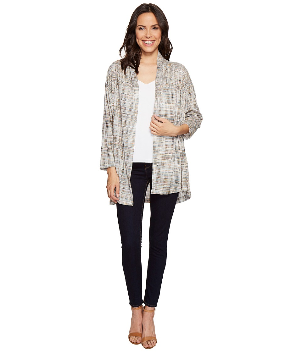 Nally & Millie - Textured Open Front Cardigan (Multi) Women's Sweater