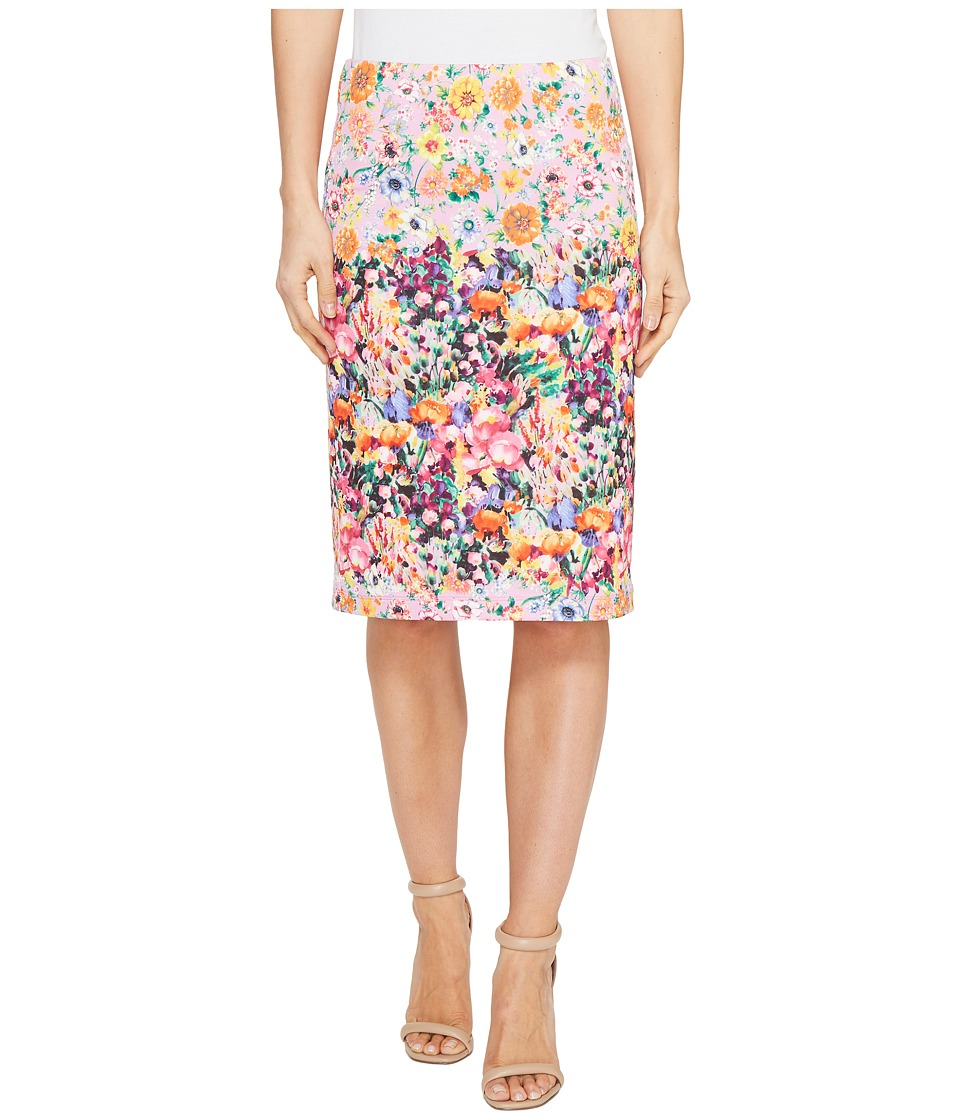 Nally & Millie - Printed Reversible Pencil Skirt (Multi) Women's Skirt