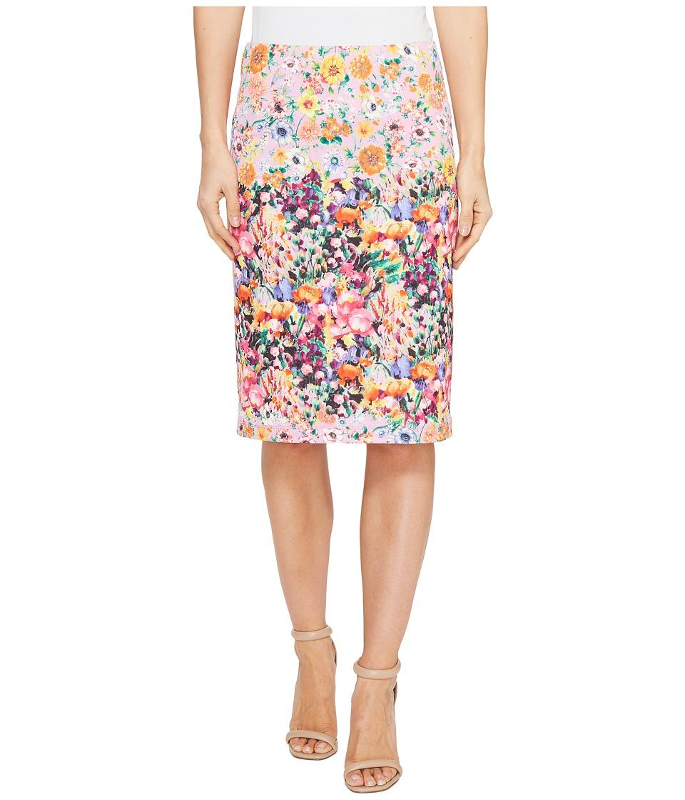 Nally & Millie Printed Reversible Pencil Skirt (Multi) Women