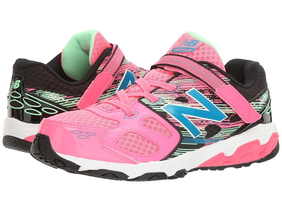 New Balance Kids KA680v3 (Little Kid/Big Kid) (Pink/Black) Girls Shoes