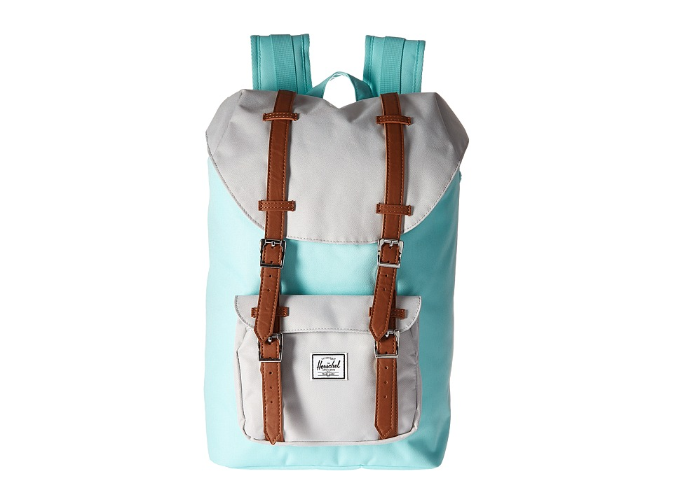 Herschel Supply Co. - Little America Mid-Volume (Blue Tint/Glacier Grey/Tan Synthetic Leather) Backpack Bags