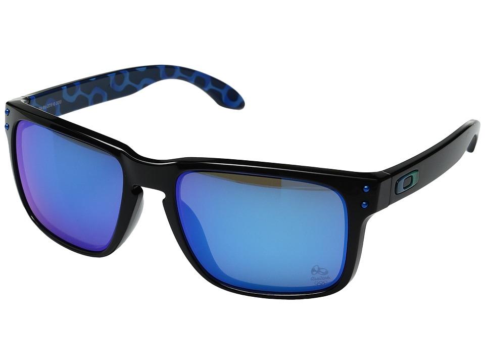 Oakley - Holbrook (Black Ink/Sapphire Iridium) Sport Sunglasses