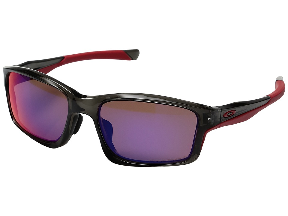Oakley - (A) Chainlink (Grey Smoke/Red Iridium Polarized) Sport Sunglasses