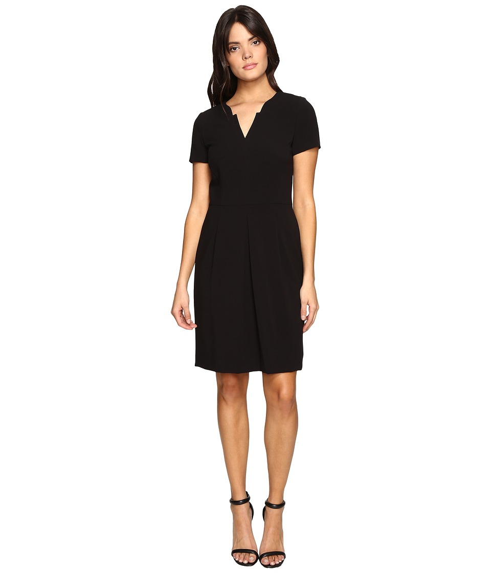 Tahari by ASL - Double Woven A-Line (Black) Women's Dress