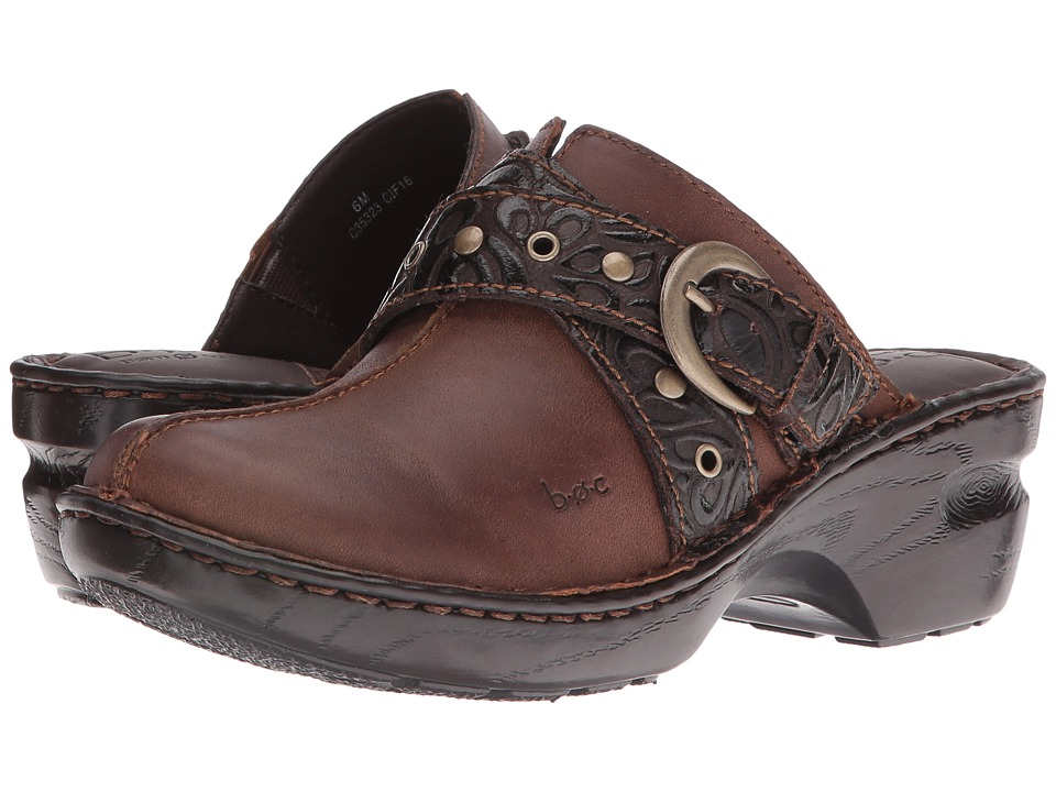 b.o.c. - Karley (Chocolate) Women's Clog/Mule Shoes