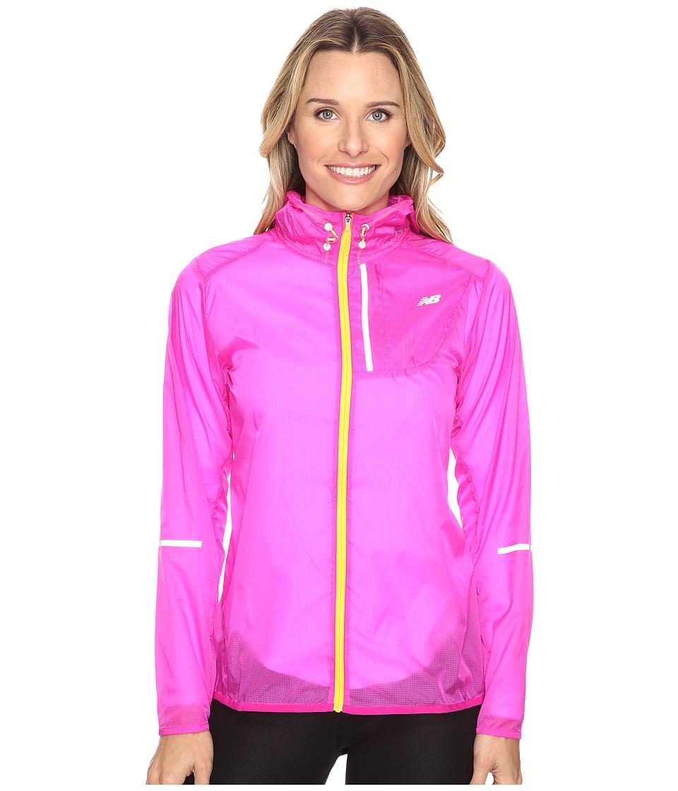 New Balance - Lite Packable Jacket (Azalea) Women's Coat