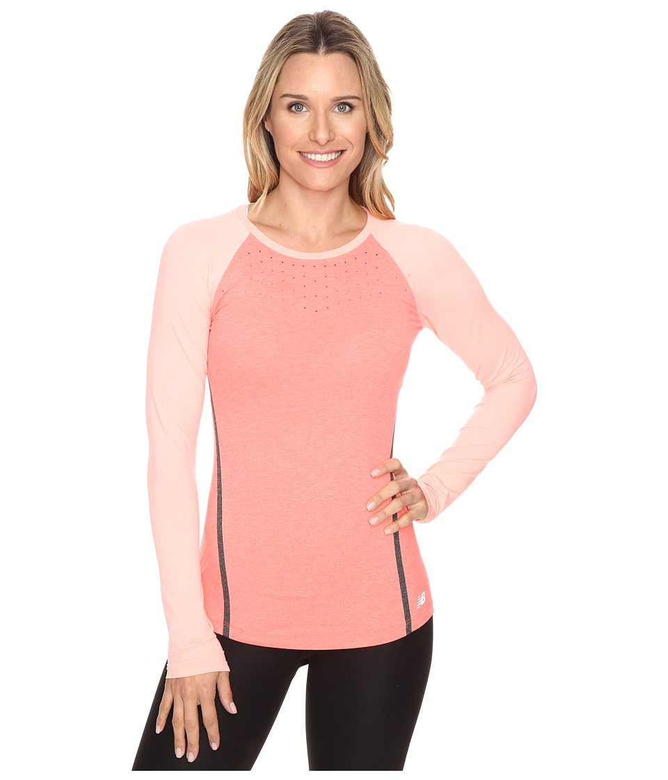 New Balance - Trinamic Long Sleeve Top (Dragonfly Heather) Women's Long Sleeve Pullover