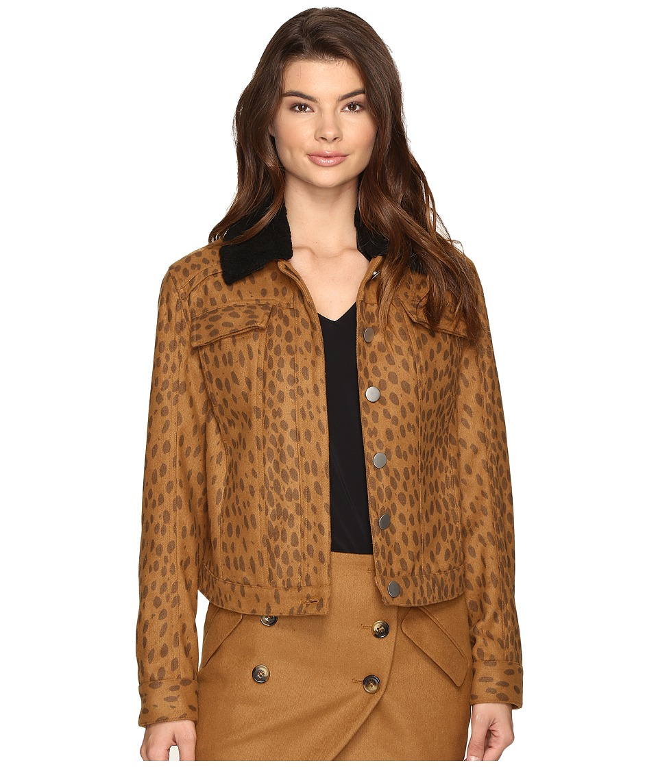LAVEER - Wooly Collar Weekend Jacket (Leopard) Women's Coat
