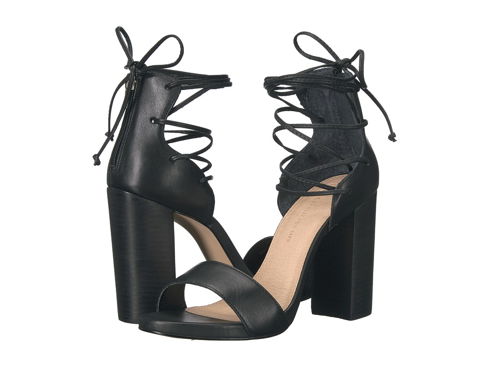 LFL by Lust For Life Gaze (Black Leather) High Heels