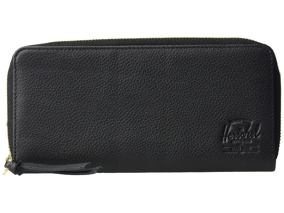 Herschel Supply Co. - Avenue Leather RFID (Black Pebbled Leather) Wallet Handbags
