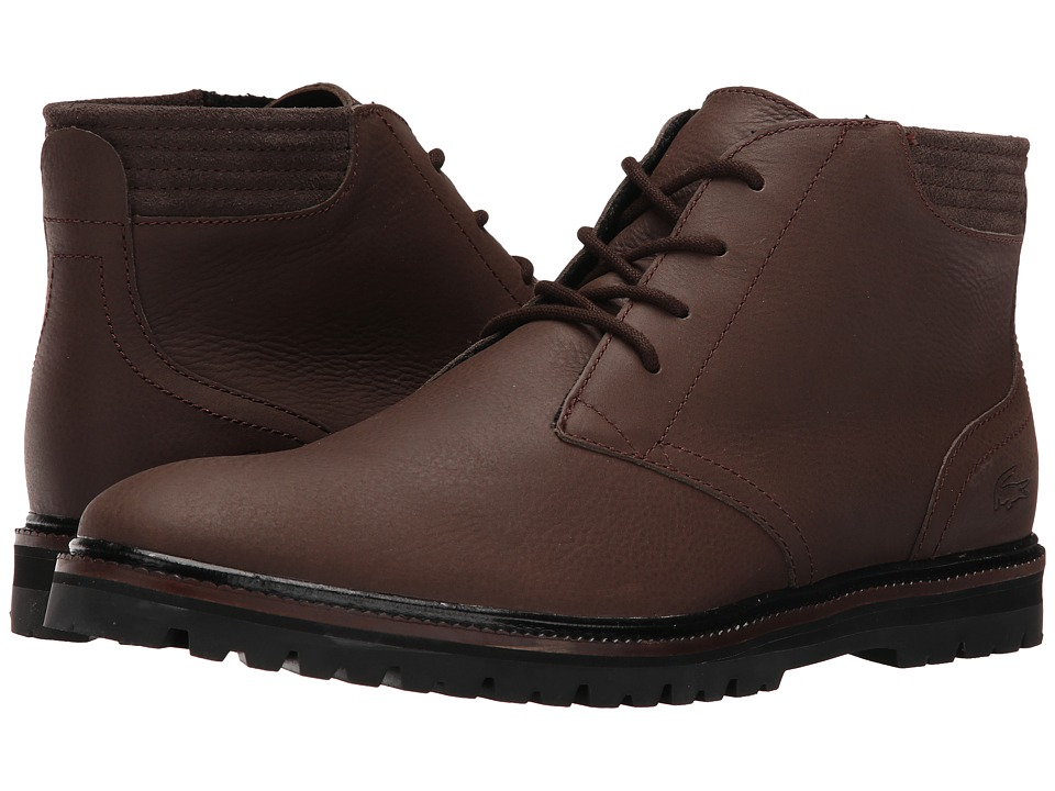 Lacoste - Montbard Chukka 316 (Dark Brown) Men's Shoes