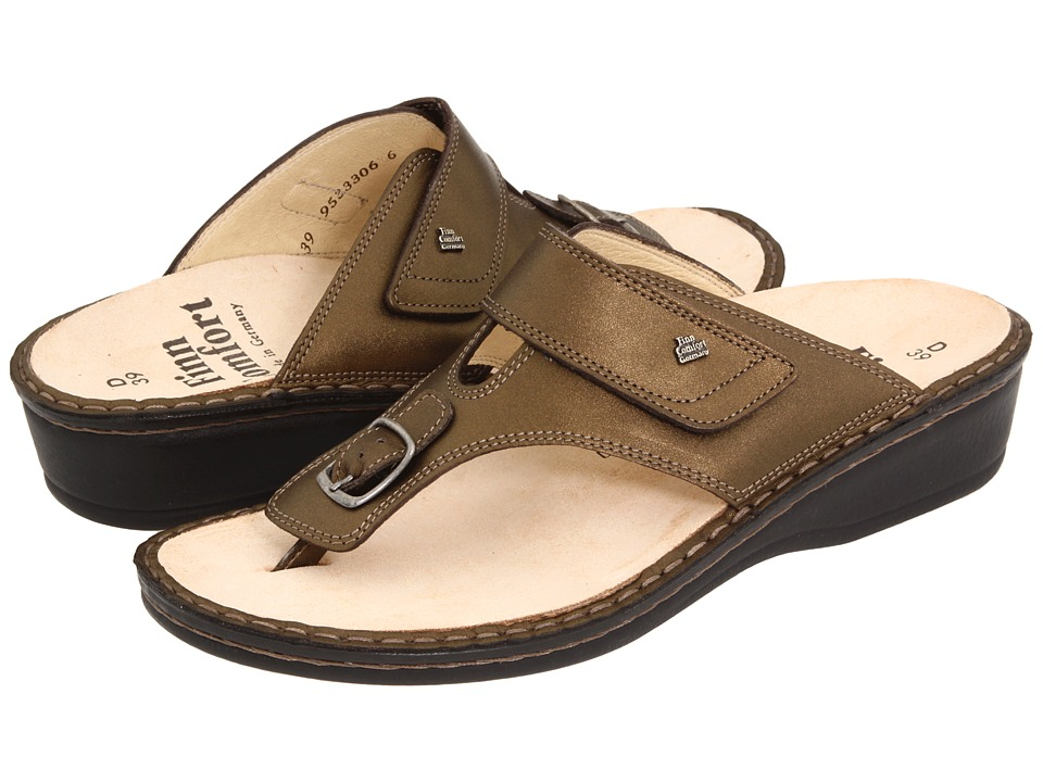 Finn Comfort - Phuket - 2533 (Cigar Luxory Leather Classic Footbed) Women's Sandals