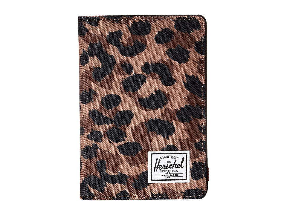 Herschel Supply Co. - Raynor Passport Holder RFID (Leopard) Wallet Handbags