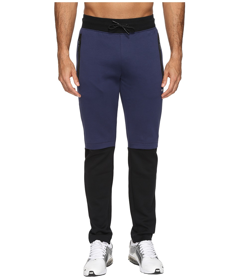 PUMA - Evo LV Color Blocked Sweatpants (Peacoat) Men's Casual Pants