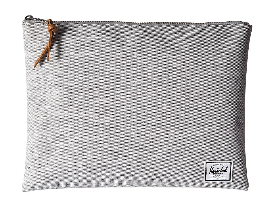 Herschel Supply Co. - Network Xl (Light Grey Crosshatch) Travel Pouch