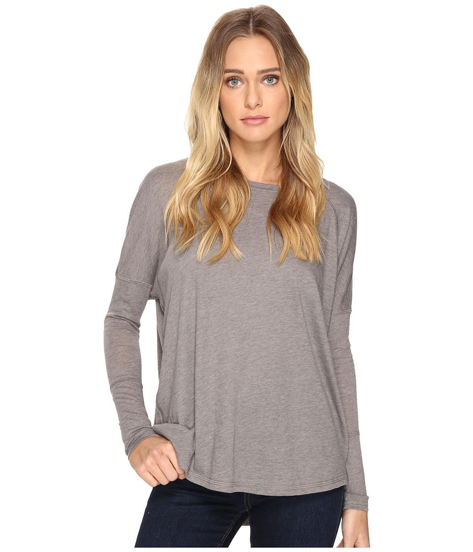 Alternative - Eco Gauze Ramble Long Sleeve Tunic (Grey Storm) Women's Long Sleeve Pullover