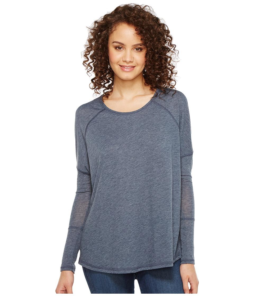 Alternative - Eco Gauze Ramble Long Sleeve Tunic (Tidal Blue) Women's Long Sleeve Pullover