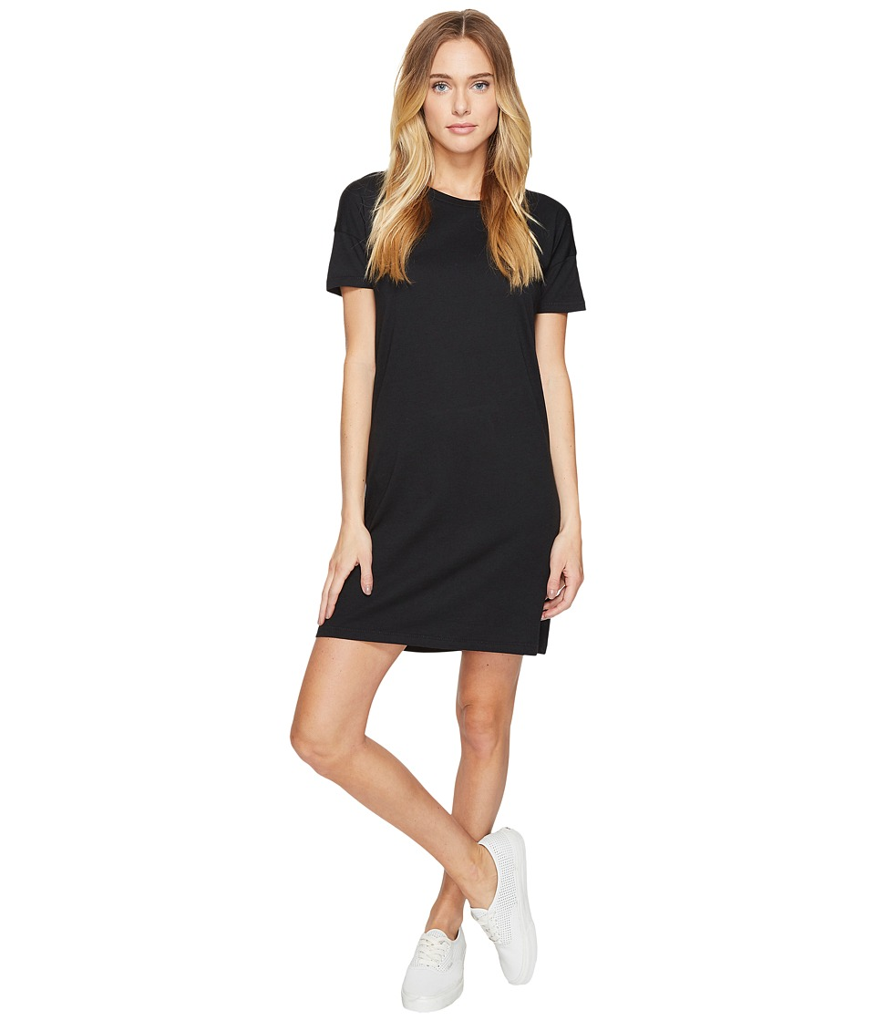 Alternative - Straight Up Cotton Modal T-Shirt Dress (Black) Women's Dress