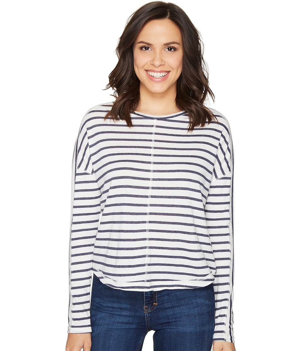 Alternative - Sunseeker Eco-Jersey Yarn-Dye Stripe Pullover (Midnight Riviera Stripe) Women's Long Sleeve Pullover