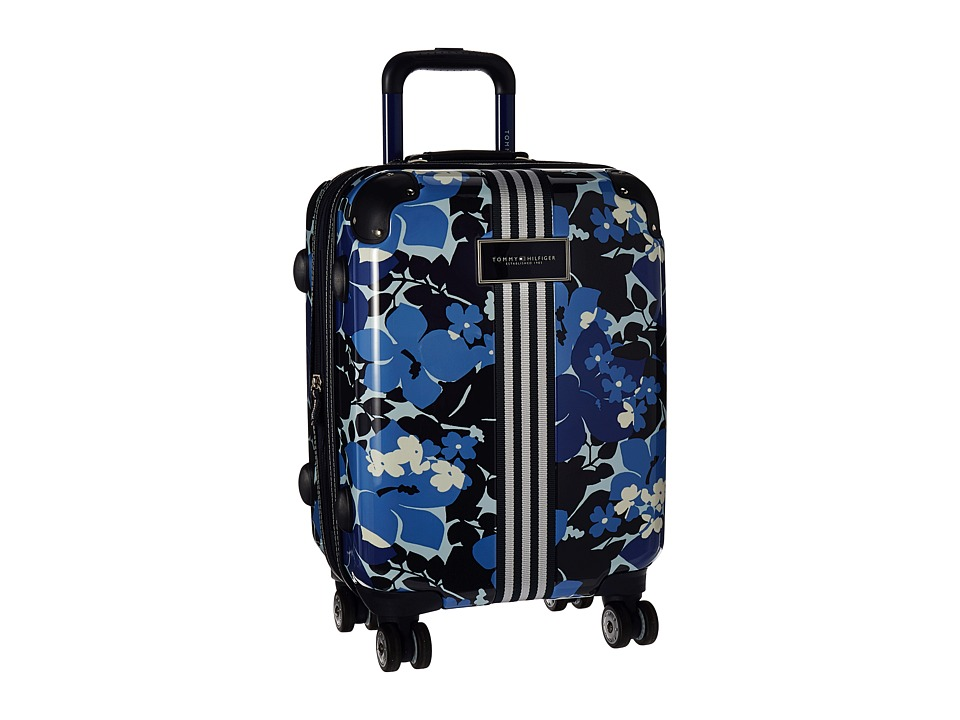 Tommy Hilfiger - Floral 21 Upright Suitcase (Blue) Carry on Luggage
