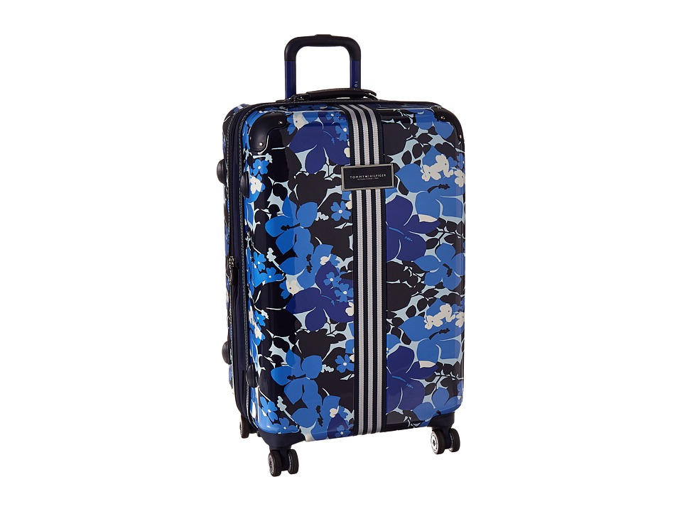 Tommy Hilfiger - Floral 25 Upright Suitcase (Blue) Carry on Luggage