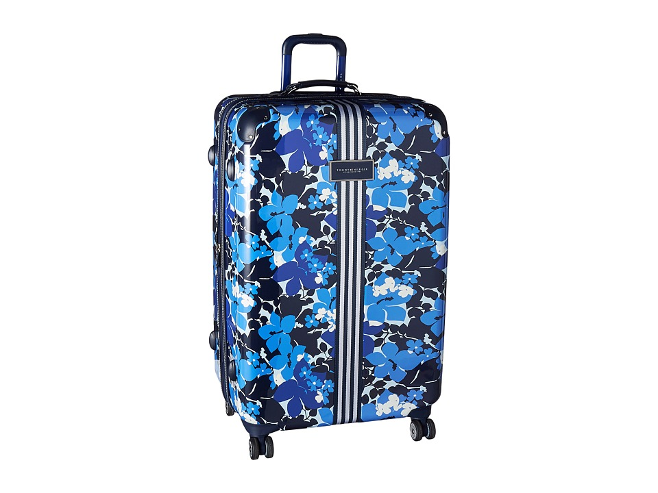 Tommy Hilfiger - Floral 29 Upright Suitcase (Blue) Carry on Luggage
