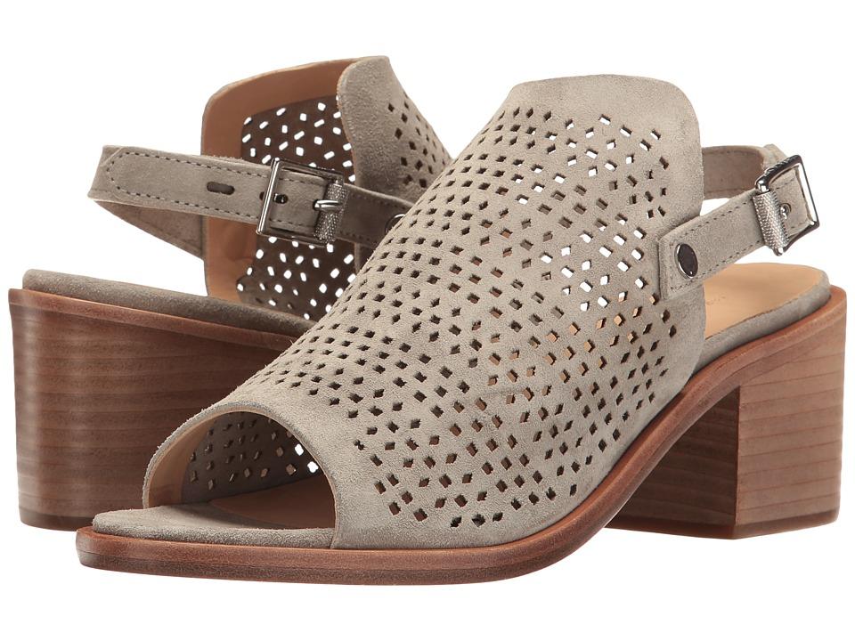 rag & bone - Wyatt Mid Heel (Cemento Suede Perforated) High Heels