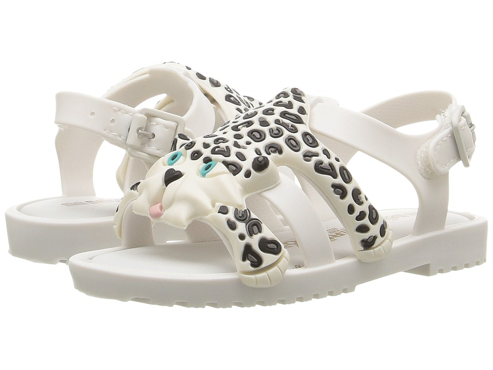 Mini Melissa - Mini Flox + JS (Toddler) (White/Black) Girl's Shoes