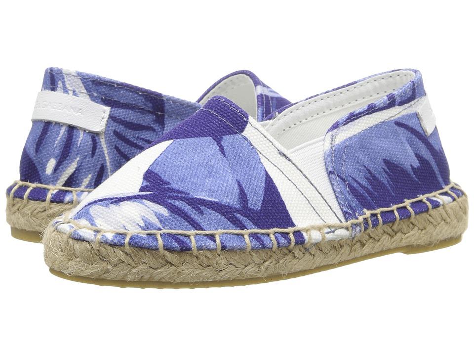 Dolce & Gabbana Kids - Mare Espadrille (Toddler/Little Kid) (Banana Leaf Print) Girl's Shoes