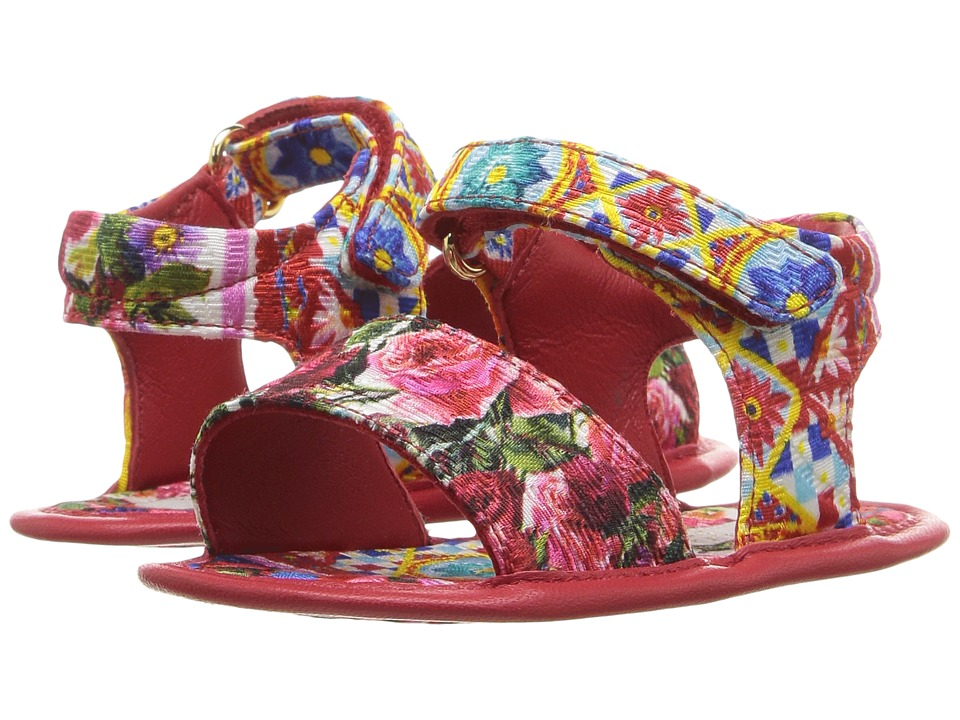 Dolce & Gabbana Kids - Mambo Broccade Sandal (Infant/Toddler) (Carretto Print) Girls Shoes