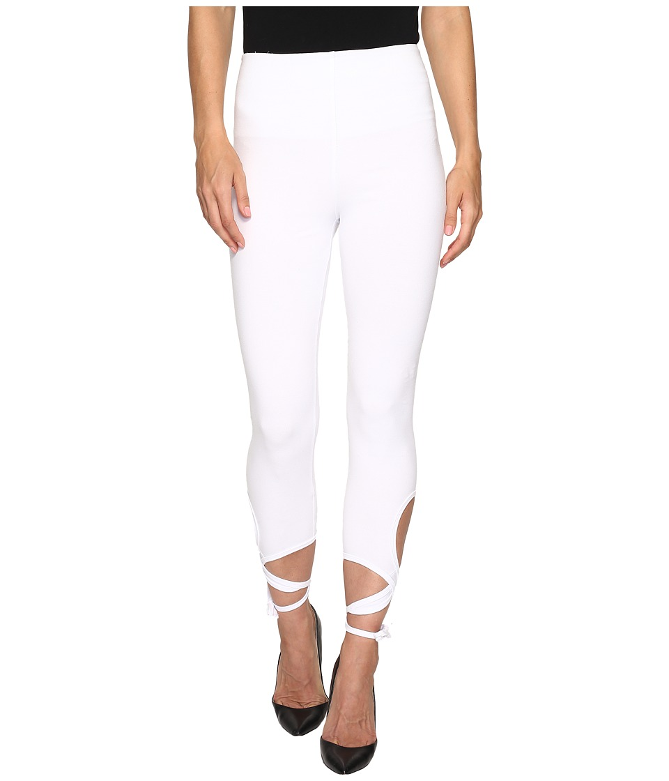 Lysse - Wrap Ankle Leggings (White) Women's Casual Pants
