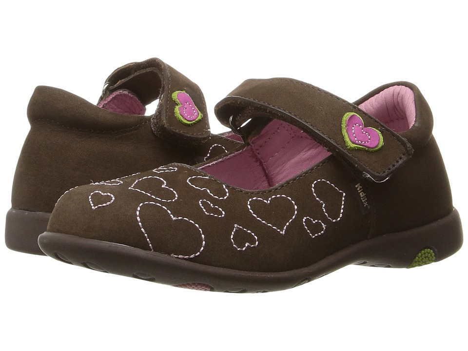 Kid Express - Hearty (Toddler/Little Kid) (Dark Brown Nubuck) Girl's Shoes