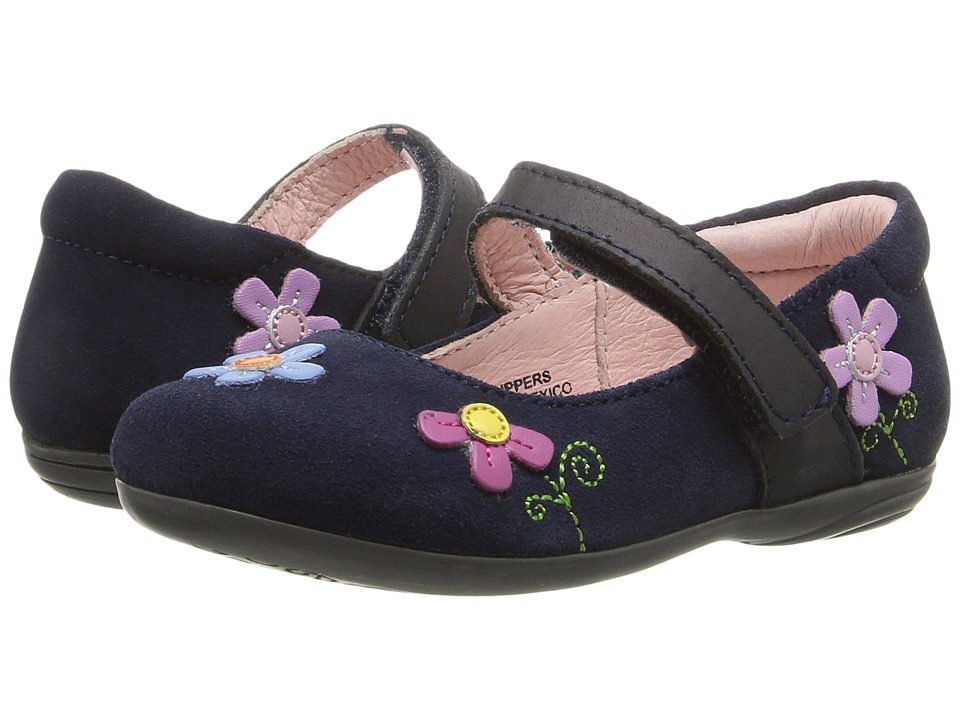 Kid Express - Dalisha (Toddler/Little Kid) (Navy Suede) Girl's Shoes