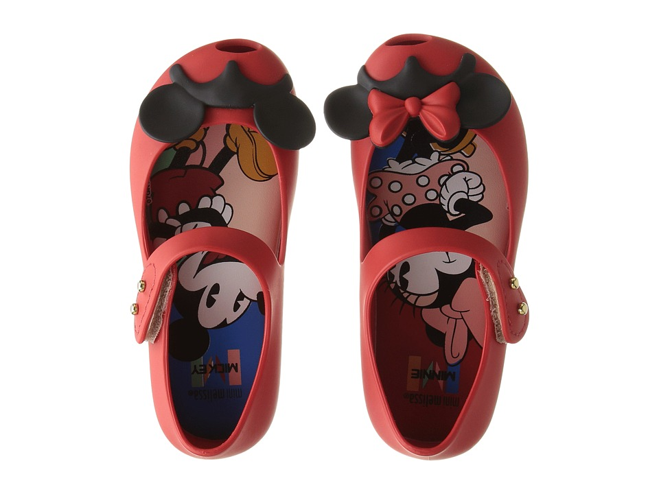 Mini Melissa - Mini Ultragirl + Disney Twins II (Toddler/Little Kid) (Bordeaux) Girl's Shoes