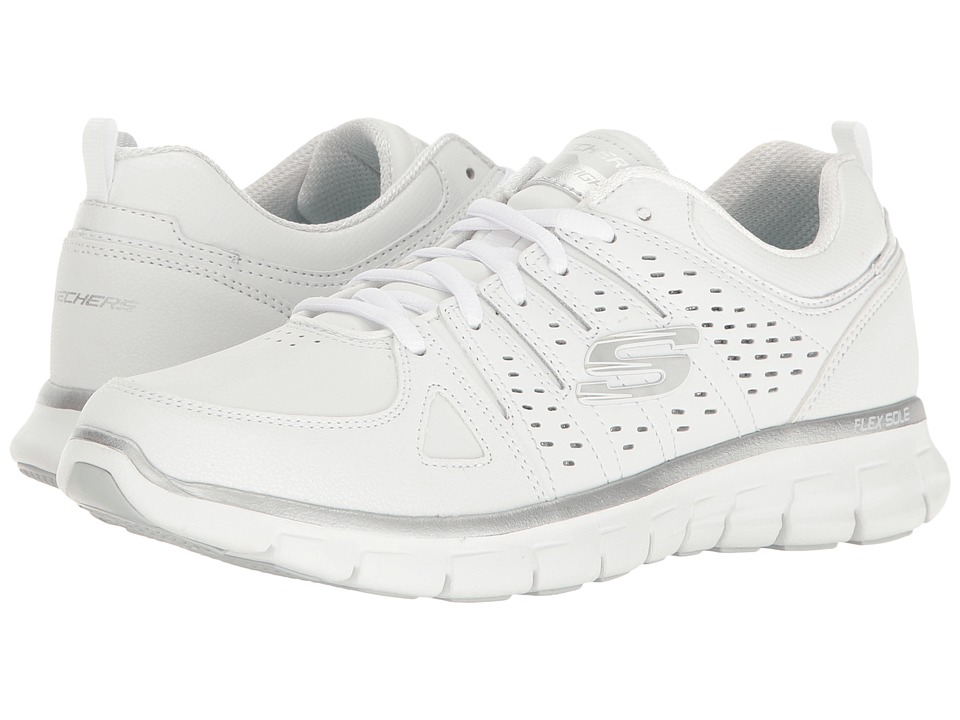 SKECHERS - Synergy (White) Women's Lace up casual Shoes