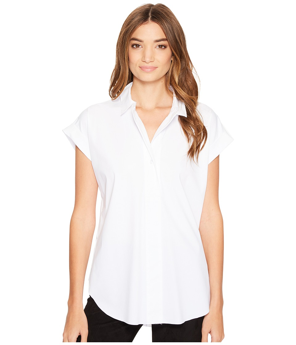 Lysse - Rosa Shirt (White) Women's Short Sleeve Button Up