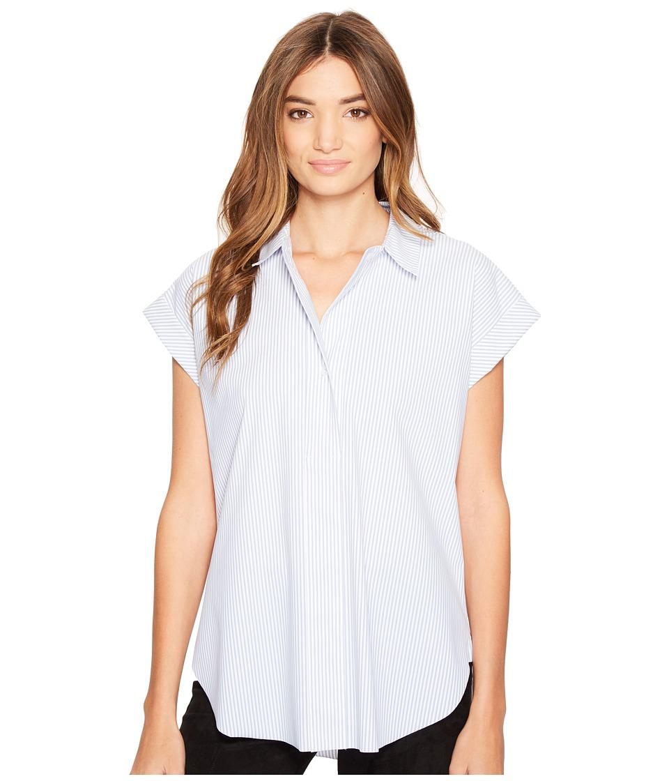 Lysse - Rosa Stretch Microfiber Shirt (Stripe) Women's Short Sleeve Button Up