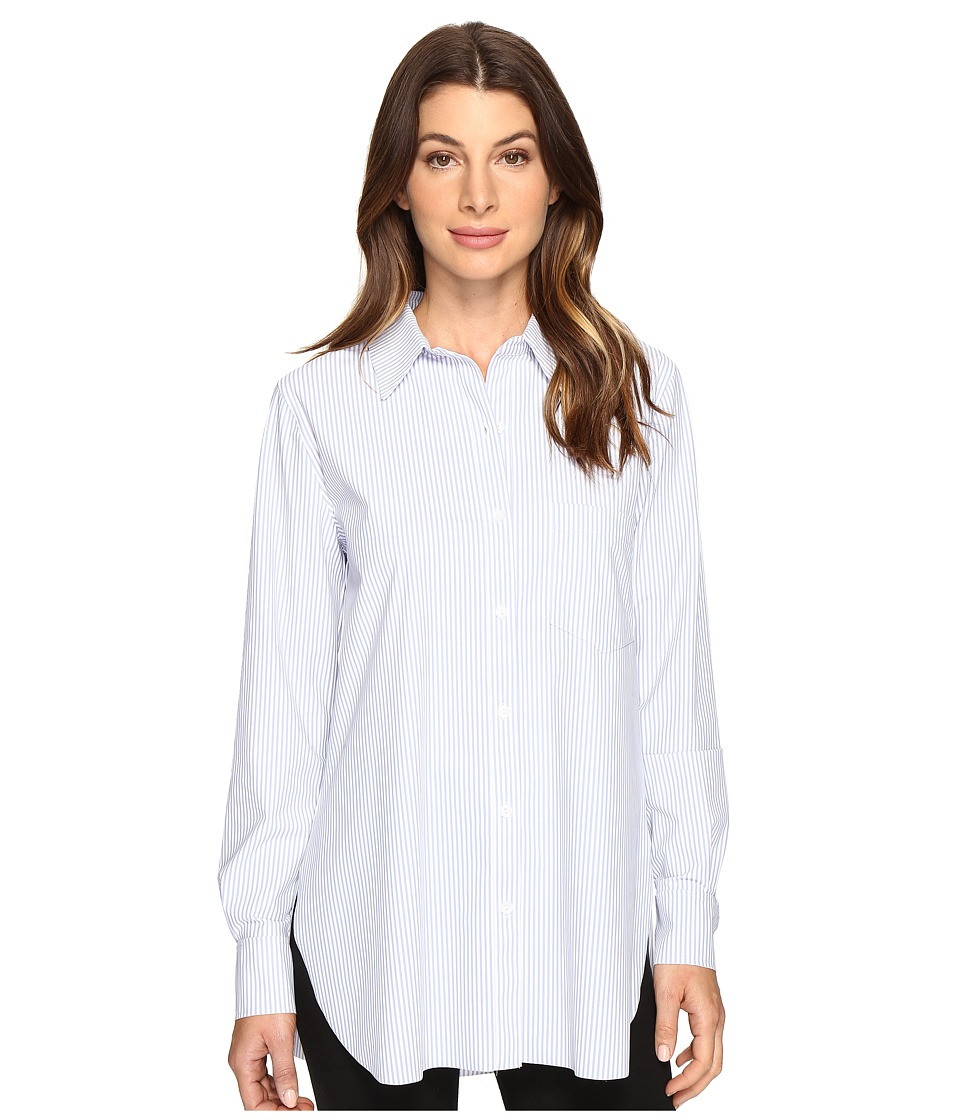 Lysse - Schiffer Stretch Microfiber Button Down (Stripe) Women's Long Sleeve Button Up