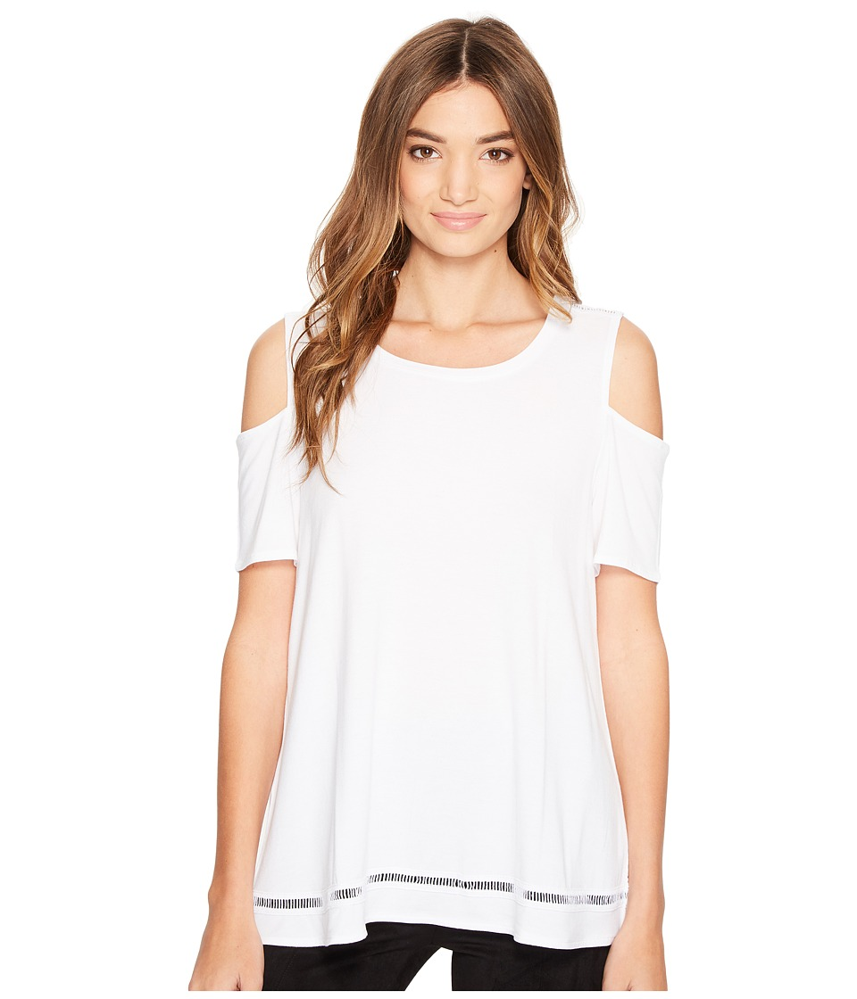 Lysse - Mira Top (White) Women's Short Sleeve Pullover