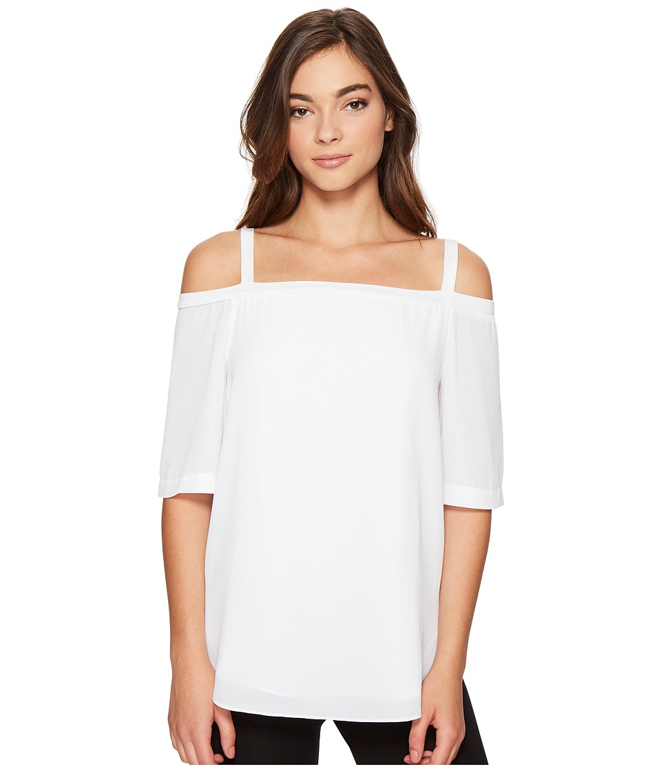 Lysse - Anika Top (White) Women's Short Sleeve Pullover