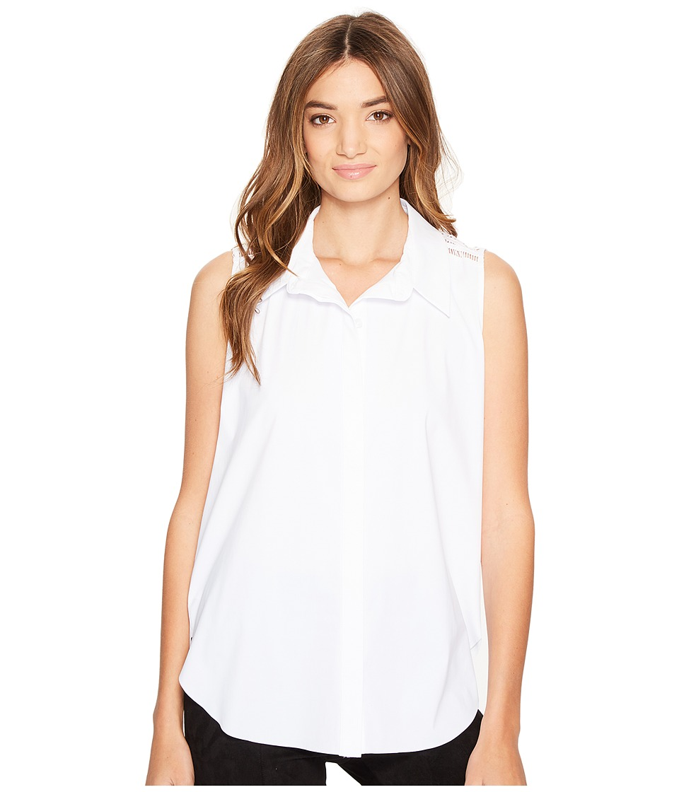Lysse - Ava Button Down Shirt (White) Women's Sleeveless