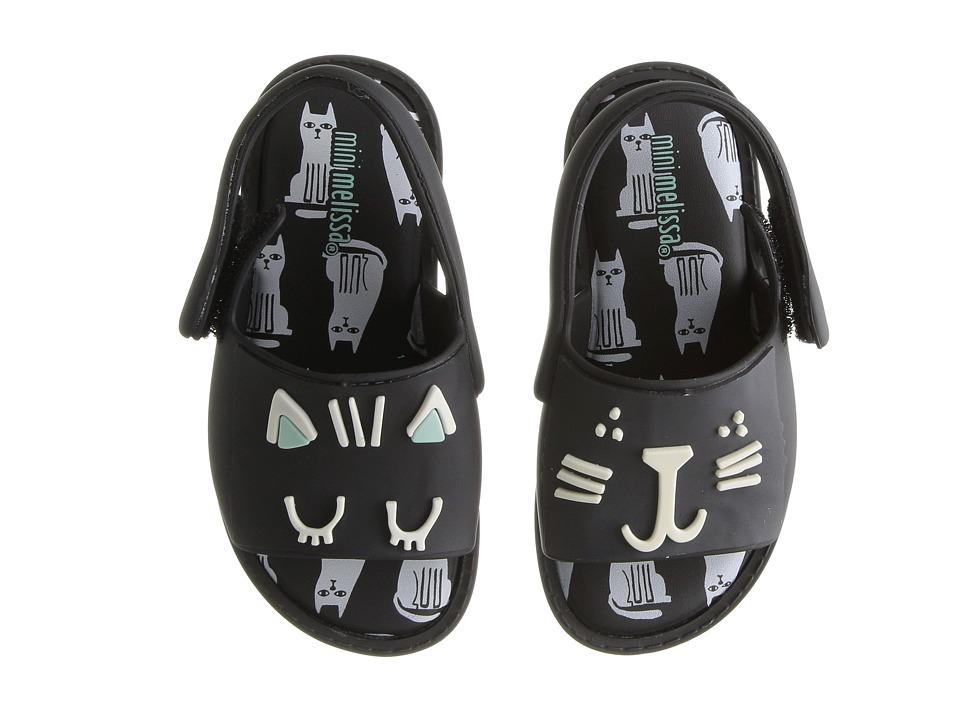 Mini Melissa - Mini Mia + Fabula (Toddler/Little Kid) (Black) Girl's Shoes