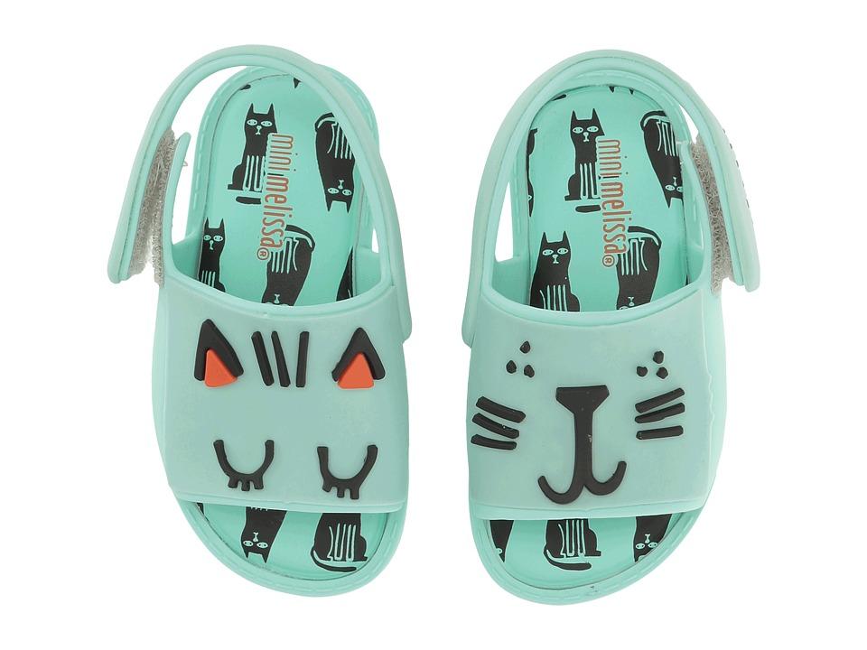 Mini Melissa - Mini Mia + Fabula (Toddler/Little Kid) (Mint Shiny) Girl's Shoes