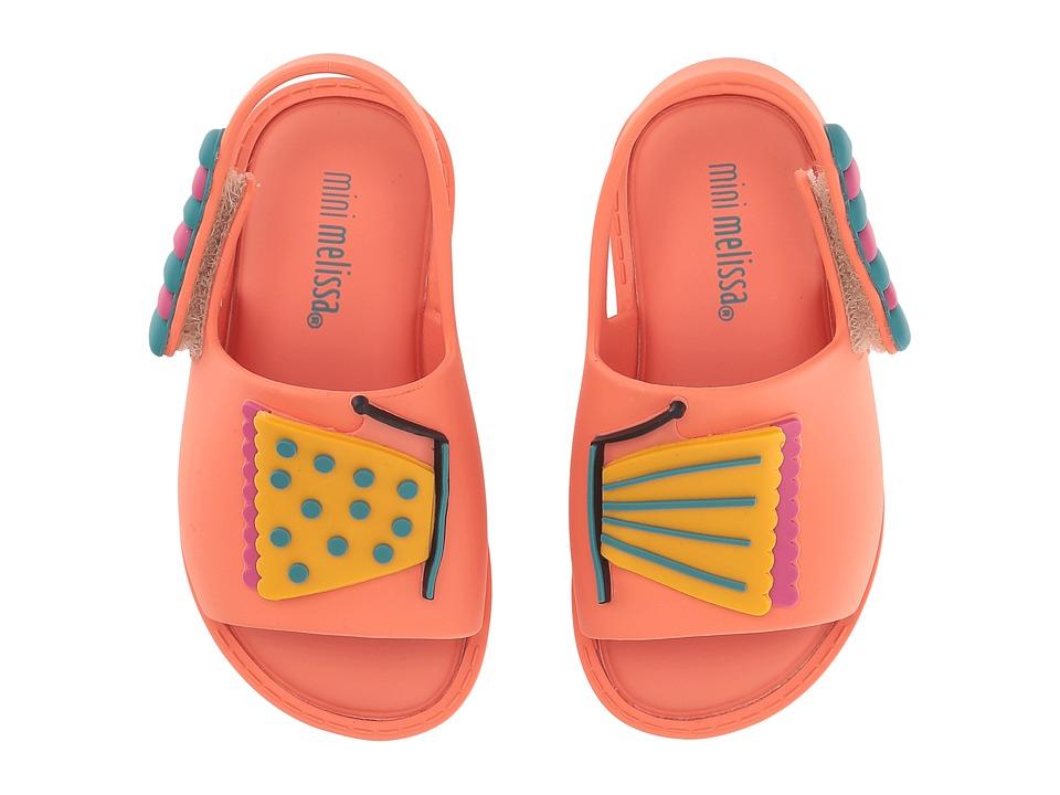 Mini Melissa - Mini Mia + Fabula (Toddler/Little Kid) (Coral) Girl's Shoes