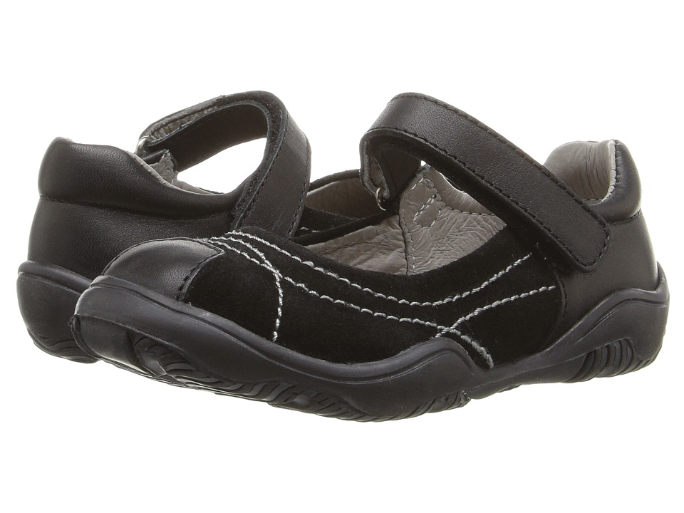 Kid Express - Dafny (Toddler/Little Kid) (Black Combo) Girl's Shoes