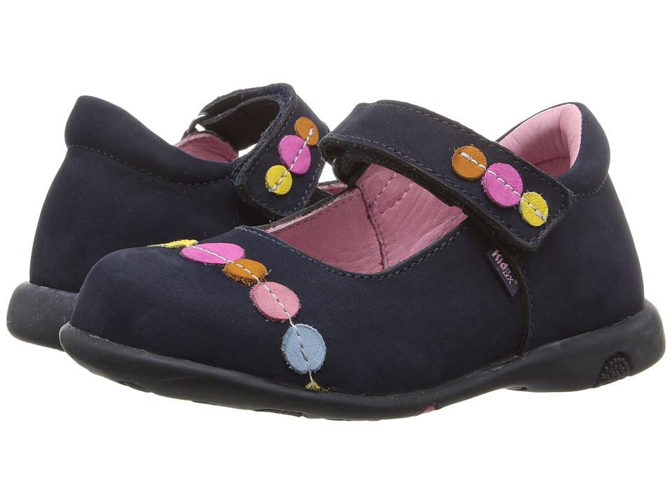Kid Express - Kelis (Toddler/Little Kid/Big Kid) (Navy Nubuck) Girl's Shoes