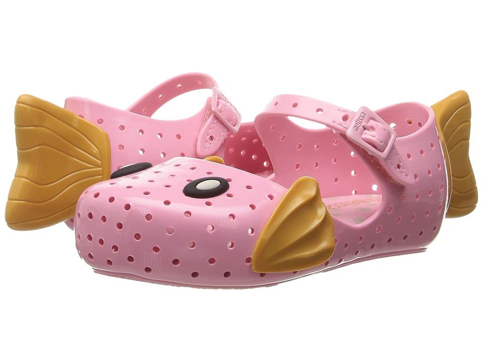 Mini Melissa - Mini Furadinha + Fabula (Toddler/Little Kid) (Baby Pink) Girl's Shoes